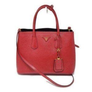 Prada Cuir Double Saffiano Medium Crossbody Bag